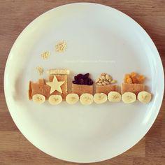 Food art – Page 2 – Rosie & Ruby love … Funny Breakfast, Breakfast For Kids, Baby Snacks, Toddler Snacks, Food Art For Kids, Food Decoration, Food Crafts, Food Humor, Kid Friendly Meals