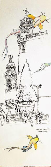 URBAN SKETCHERS FRANCE: Madrid et Ventimiglia | A little bit of whimsy...