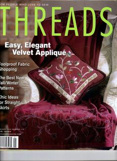 THREADS Jan 2004 back issue ' magazine, sewing needlework embroidery #Threads