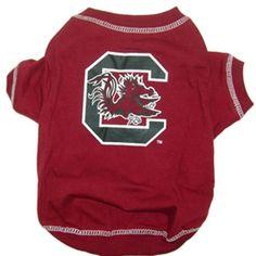 South Carolina Gamecocks NCAA Dog Tee Shirt