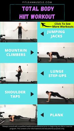 Click link to see full workout details for this quick and efficient 20-Minute HIIT! 20 Minute Workout, Post Workout, Hiit Benefits, Burn Calories Fast, Hiit Workouts For Beginners, What Is Hiit, Hiit At Home, Workout Routines For Women, High Intensity Interval Training