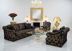 Nice Black And Gold Sofa Elegant 18 On Living Room