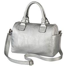 Silver Satchel Handbag