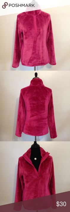 ✨✨✨FURRY JACKET✨✨✨ New; never worn; pink faux fur; 100% polyester; front zipper goes midway exertek Jackets & Coats