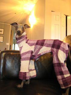 Warm Fleece Jammies for Italian Greyhounds