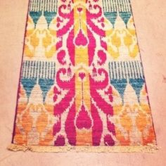 Love this colorful rug!