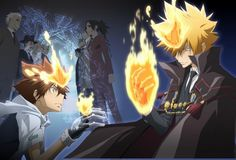 The Katekyo Hitman Reborn battle between Tsuna and Xanxus for the Vongola Rings. Description from wn.com. I searched for this on bing.com/images