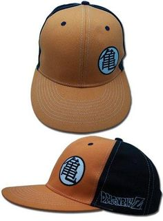 Dragon Ball Z Logo Black and Orange Snapback Hat 6c53b23a249