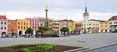 Town square in Kromeriz - Czech Republic