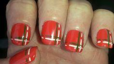 w Tartan, Nails, Beauty, Finger Nails, Ongles, Plaid, Beauty Illustration, Nail, Nail Manicure
