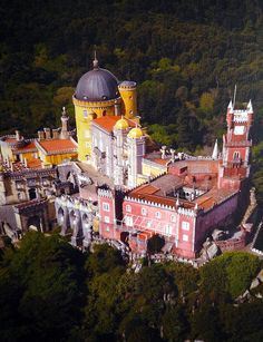 The Pena National Palace ,Sintra, Portugal. Sintra Portugal, Spain And Portugal, Portugal Travel, Beautiful Architecture, Beautiful Landscapes, The Places Youll Go, Places To See, Wonderful Places, Beautiful Places