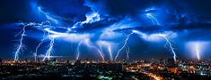 Seven spectacular weather events – and what causes them — Universal-Sci Color Calibration, Night City, To Color, All Print, Primary Colors, Office Decor, Lightning, Environment, Blue And White