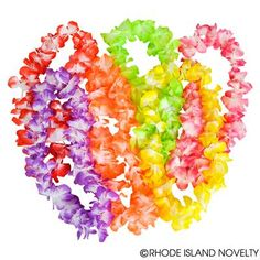 Complete your Hawaiian outfit with our 36-inch Assorted Large Petal Leis. Ideal for party favors, costume accessories and Hawaiian graduation ceremonies. #PETAL #LEI #LEIS #LUAU #PARTY