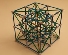 Metatron's cube in 3D made with ZOMETOOLS.