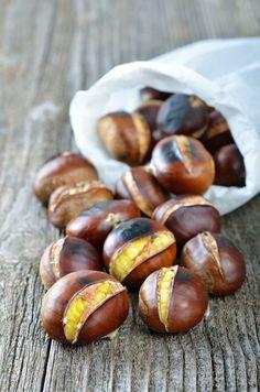 Italian Food ~ roasted chestnuts