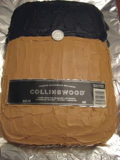 Collingwood Whiskey Cake (to make this colour, I added cocoa to my icing - perfect colour! Whiskey Cake, Blended Whisky, How To Make Cake, Bamboo Cutting Board, Cocoa, Icing, Artisan, Cakes, Scan Bran Cake