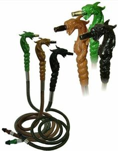 "72"" Black Dragon Hookah Hose - Dragon Head Hose by Head Cold Hookah. $28.00"