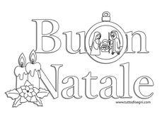 Scritta Buon Natale con Natività