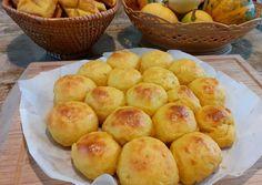 Krumplis-sütőtökös pogácsa és sajttal töltött puffancs | Kalicz-Dóra Mónika receptje - Cookpad receptek Muffin, Potatoes, Peach, Fruit, Vegetables, Breakfast, Food, Morning Coffee, Potato