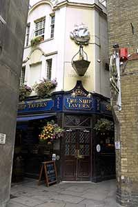 the ship tavern. london...love knowing right where this hidden pub is!