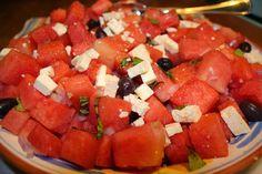 Ocean Breezes & Country Sneezes: Watermelon Salad