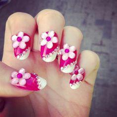 ♡ Superpink Barbie Nails ♡  Glitterface Nail Designs : view on Beautylish.com http://www.beautylish.com/f/sismgv/-superpink-barbie-nails-