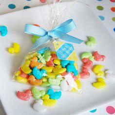 DUCK SHAPE SWEET TART CANDY cute baby shower idea $9.95 for 1 pound @ http://www.beau-coup.com/bulk-duck-sweet-tart-candy.htm