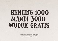 New free font 'Cemong' by Gunarta · Free for commercial use · #freefont #font