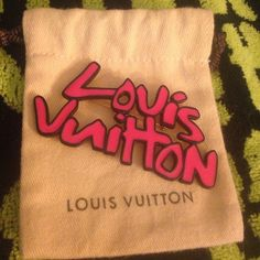 Authentic Louis Vuitton Graffiti Brooch Authentic Louis Vuitton Stephen Sprouse Graffiti Brooch.  Hot pink color.  Excellent condition, gorgeous collectors piece.  Comes with little dust cover pouch and NO box. Louis Vuitton Accessories