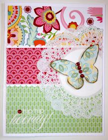 Karen Pedersen: Butterfly Card made with Chantilly Papers from Close To My Heart