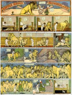 Little Nemo in Slumberland - the lion under the bed Winsor McCay