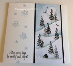 Good morning all, I do hope that you are wrapped up warm, I am not enjoying this sudden change of temperature. My bones really don't li. Stamped Christmas Cards, Beautiful Christmas Cards, Christmas Card Crafts, Christmas Cards To Make, Xmas Cards, Holiday Cards, Handmade Christmas, Christmas Ideas, Card Io