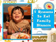I grew up always having dinner with my family. These are some really great reasons to get back to doing it with my own  http://www.oursouthernstyle.com/2014/10/5-reasons-to-eat-family-dinners.html