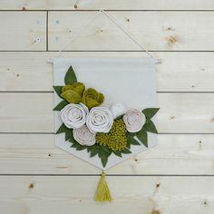 Felt + Canvas Flower Banner - Blush