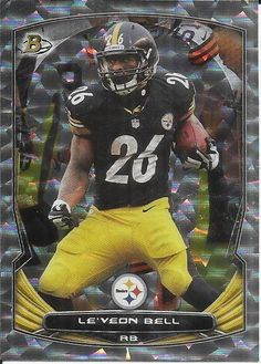 87b0dff19 2014 Bowman Rainbow Silver Cracked Ice Le'Veon Bell Pittsburgh MINT FROM  PACK #GIANTS