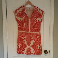 Madewell Silk Mini Dress A beautiful, lightweight 100% silk dress in a fun red pattern from Madewell. Madewell Dresses Mini
