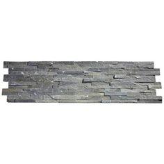 Amaro Grey Stone Split Face Tiles - 400 x 100mm