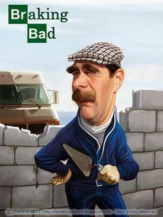Caricature de Nigel Mansell, champion du monde de formule, mais aussi grand spécialiste de boulettes en tous genres... pour mon prochain b...