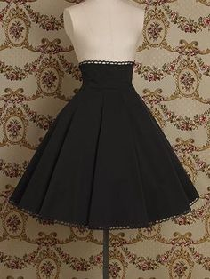 High-waisted skirt.