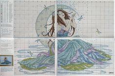 0 point de croix déesse de l'eau - cross stitch water goddess
