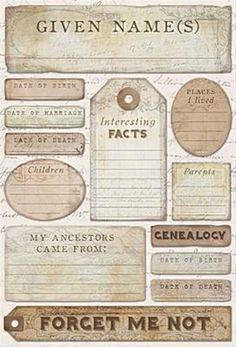 Ancestry - Journaling Stickers by Karen Foster