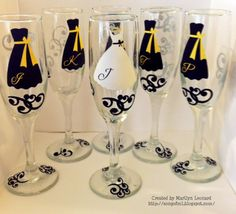 ~ Marilyn's Crafts ~: Wedding Champagne Glasses. DIY for $3.50 per glass.