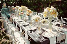 Vintage Garden inspired Table Setting