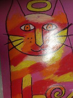 Laurel Burch Warm Colored cat