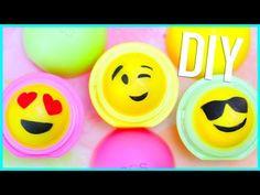 DIY EOS Lip Balm: EMOJI design! (Two Ways) - YouTube