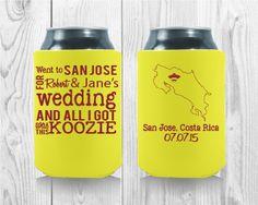 Wedding Koozies, San Jose, Party Favors, Wedding Day, Wedding Inspiration, Templates, Fun, Pi Day Wedding, Saint Joseph