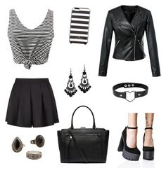 """""""Goth"""" by secret-girl02 ❤ liked on Polyvore featuring WithChic, Miss Selfridge, Kate Spade, Qupid, 1928, Witchery and MANGO"""