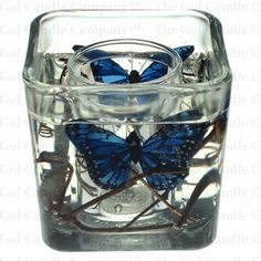 Butterfly Forever Gel Candle - Blue