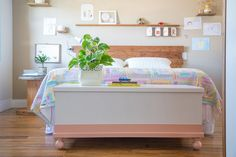 Quarto de casal Toy Chest, Storage Chest, Toddler Bed, Sweet Home, Cabinet, Bedroom, Diy, Furniture, Home Decor