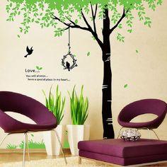 Birds & Tree Mural Art Wall Sticker Decal Wall Art by Bling4U2011, $23.95